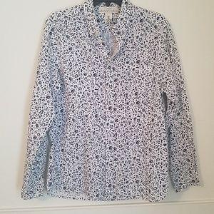 Mens button up print shirt